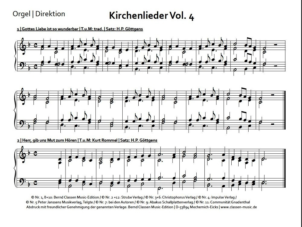 kirchenlieder noten