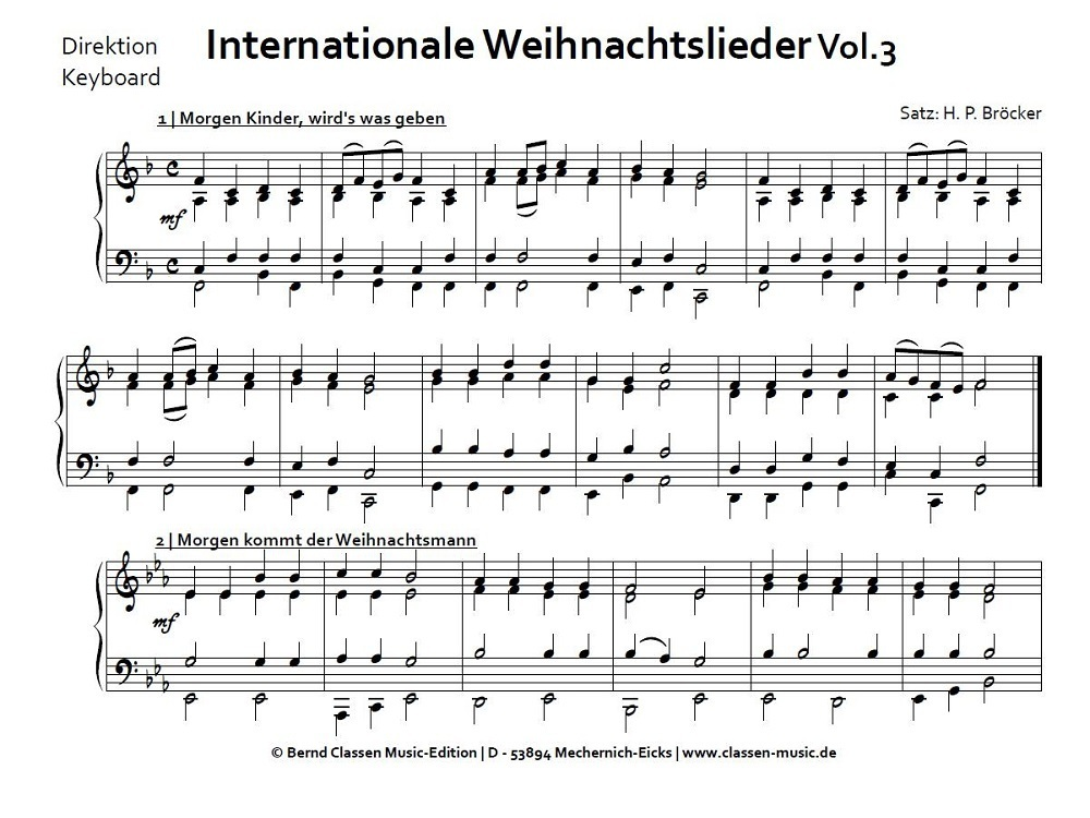 Internationale Weihnachtslieder Vol. 3 Noten für Blasorchester