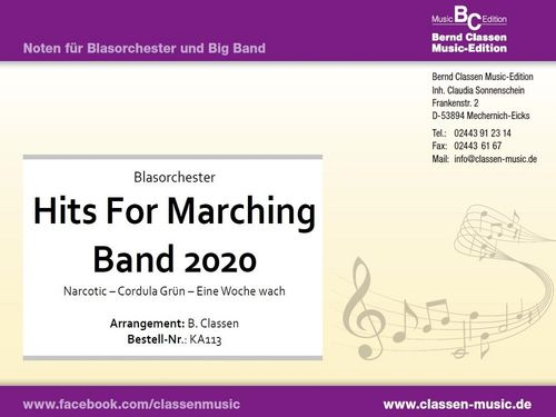 Hits For Marching Band 2020